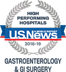 U.S. News High-Performing Gastroenterology and GI Surgery