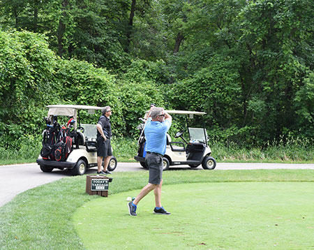 Community Memorial Foundation Golf Classic Action Shot