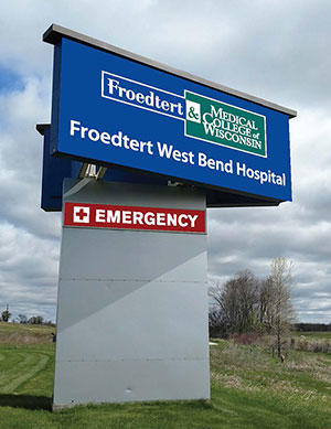 Froedtert West Bend Hospital Signage