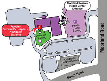 Froedtert Community Hospital - New Berlin Emergency Entrance Map