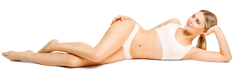 Woman After Laser Hair Removal