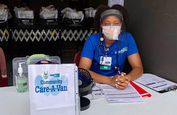 Care-A-Van Nurse Tierra Hoard, BSN, RN, During COVID-19
