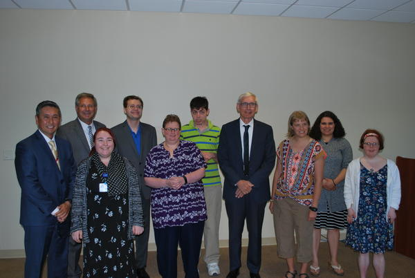 St. Joseph's Hospital Project SEARCH class with Gov. Evers