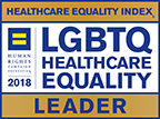 HRC Leader in LGBTQ Healthcare Equality logo