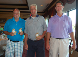 Golf Classic Award Winners With Trophies