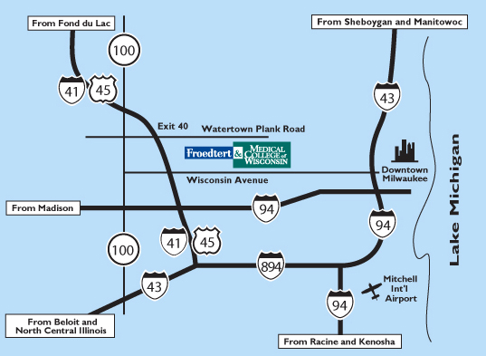 Directions Froedtert Hospital Milwaukee Wis - Maps on us driving directions