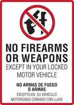 No Weapons Policy image